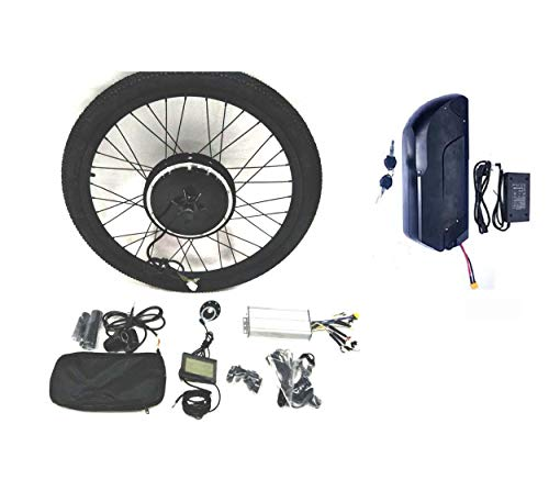 theebikemotor 48V1000W Hub Motor Electric Bike Conversion Kit Sine-Wave Controller + Tire + LCD Display