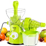 Geedel Manual Masticating Juicer, Original Slow Juicer Machine for Maximum Nutrition Value, Hand Cold Press Juicer for All Fruits and Vegetables