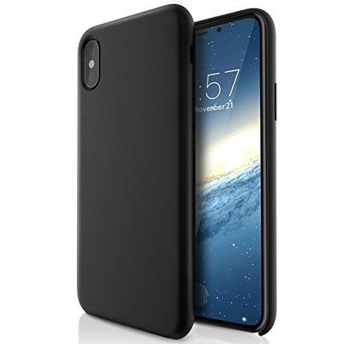 ELTD iPhone x Edition ケース iPhoneX カバー iPhone X全面保護 衝撃防止 軽量簡約スタイル 携帯カバー(ブラック)