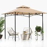ABCCANOPY Tonnelle de jardin à double toit pour terrasse - 2,4 x 2,4 m - Pour...