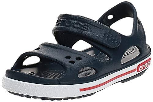 Crocs Crocband II Sandal PS K, Sandalias Unisex Niños, Azul (Navy/White), 27/28 EU