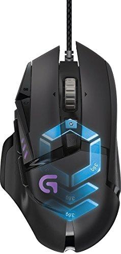 Souris gaming RVB personnalisable Logitech G502 Proteus Spectrum avec 11 boutons programmables, 200-12 000 ppp - Noir - Emballage Ouest Europe