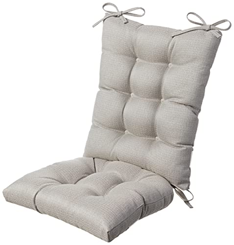 The Gripper Non-Slip Omega Jumbo Rocking Chair Cushions Set, Seat and SeatBack Pads, 1 Pack, Grey