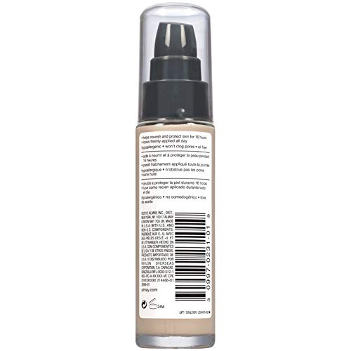 Product Image 7: Almay Truly Lasting Color Liquid Makeup, Long Wearing Natural Finish Foundation with Vitamin E and Lemon Extract, Hypoallergenic, Cruelty Free, Fragrance Free, Dermatologist Tested, 120 Ivory, 1 oz