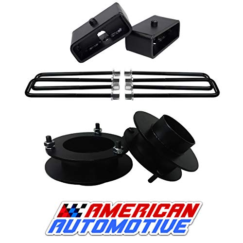 American Automotive 3' Front + 2' Rear Lift Kit for 1994-2001 Ram 1500 Lift Kit 4WD Road Fury Made in USA