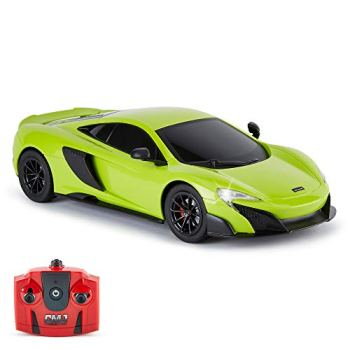 CMJ RC Cars™ McLaren 675LT Officially Licensed Remote Control Car 1:18 Scale Working Lights 2.4Ghz Green