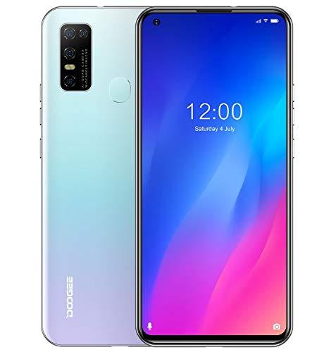 SIM Free Smartphone (4GB RAM +128GB ROM), DOOGEE N30 Unlocked Mobile phone Android 10, 6.55 inch HD+ Perforated Screen, Dual SIM + Dedicated SD card 256GB, 4500mAh Battery, 16MP AI Camera GPS White