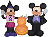 Gemmy 5.5' Wide Airblown Mickey and Minnie w/Pumpkins Disney Halloween Inflatable