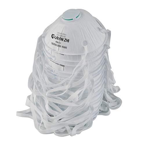 qingtang37 FFP2 Gesichtsmund Mundwerkzeug mit Atemventilfilter FFP2 Anti PM 2.5 Anti Nebel für Kinder Erwachsene, Weiß, 150 * 110 * 5 mm, 4er Pack