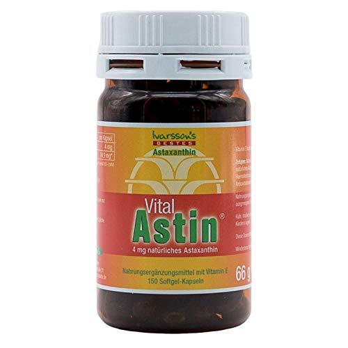 VitalAstin Astaxanthin 150 Kapseln I Das Original - Ivarssons VitalAstin mit 4 mg natürlichem Astaxanthin I Zellschutz I versandkostenfrei