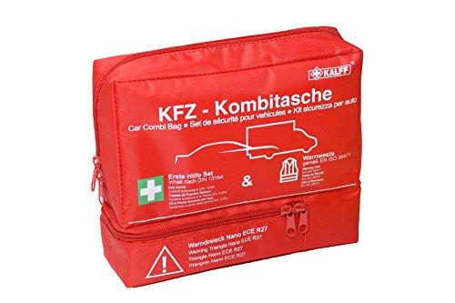 KALFF KFZ-Kombitasche TRIO Compact, inkl. Warnweste und Warndreieck, mit Erste-Hilfe Broschüre