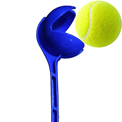 Aggarwal Sports Side Arm | Cricket Ball Thrower | Leather Ball Thrower (Blue) with Tennis Ball