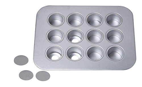 Chicago Metallic 12-Cup Mini-Cheesecake Pan, 14-Inch-by-10.75-Inch