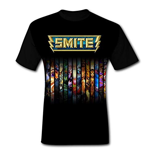 NJLLOS Mens Sm-ITE T-Shirts 3D Casual Short Sleeve O-Neck Tees Black