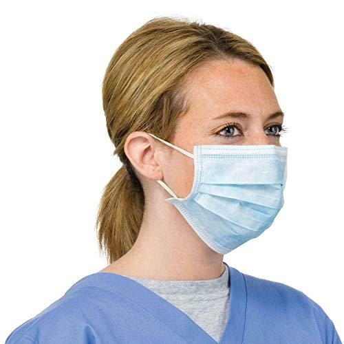 WSG 10x Maschera chirurgica dentale chirurgica di alta qualità, 3 strati, blu