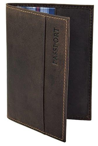 Étui pour passeport de voyage en cuir véritable - Protège-passeport -...