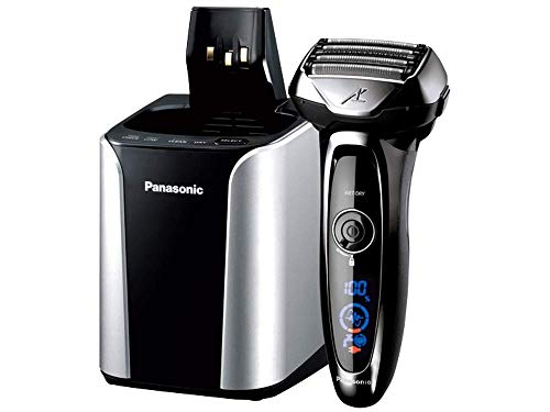 Panasonic Arc5 Electric Razor for Men, 5 Blades Shaver and Trimmer, shave sensor Technology, Automatic Clean and Charge Station, Wet Dry - ES-LV95-S