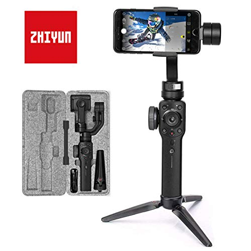 Zhiyun Smooth 4 Stabilizzatore Gimbal 3 Assi per Smartphone a 210g, Gimbal Stabilizzatore 3 Assi, Gimbal Smartphone Stabilizzatore, Colore Nero