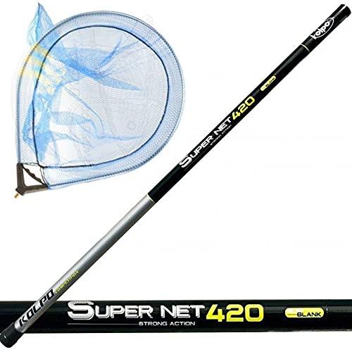 agc Kolpo Guadino Pesca Completo Palo 420cm + Testa 50 x 40 Cm