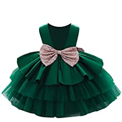 6M-5T Big Sequins Bowknot Backless Dress Toddler Baby Girls Tutu Gown Wedding Party Dresses OCCASIONS - Easter, Day,Christening,christmas, christening, formal event,Photo Shoot,pageant,birthday party,performance, wedding,formal day,Baptism etc,a best...