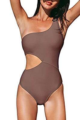 Design: One shoulder Ribbed fabric design. About Cup Style: With padding bra. Garment Care: Regular Wash. Recommend with Cold Water. Do not Use Bleach. Do not Tumble Dry. Occasion: Best Holiday Gifts for Mom, Wife, Girlfriend or Women You Love. Perfe...