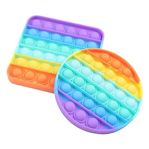 2 Packs Push Bubble Fidget Sensory Toy, Aebor Silicone Needs...