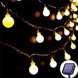 Lezonic Guirlande lumineuse solaire Extérieur 60 LED, 8M Étanche avec 8...