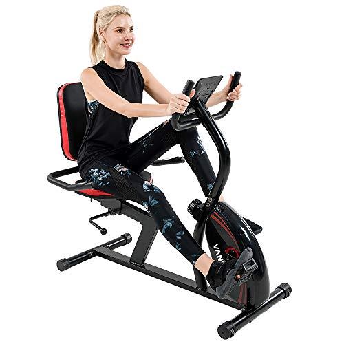Vanswe Recumbent Exercise Bike 16 Levels Resistance 380...