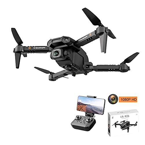 ZHCJH Drone con Doppia Fotocamera 1080P/4K HD, Mini quadricottero RC WiFi FPV RTF Aereo, decollo/atterraggio/Ritorno con Una Chiave, Facile da Usare, Regali per Bambini (1080P, Custodia)
