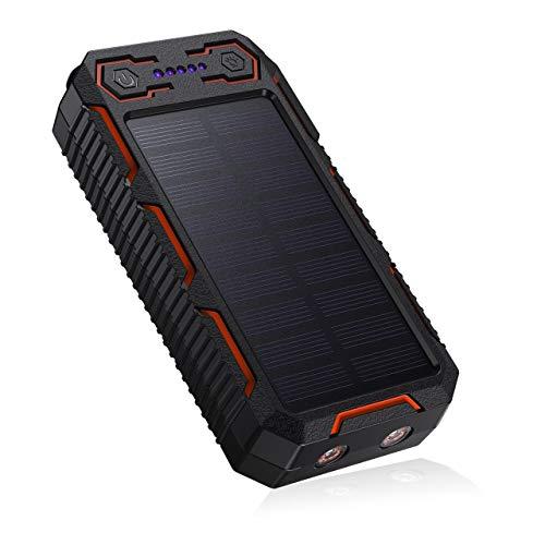 POWERADD Chargeur Solaire 26800mAh, Batterie Externe Solaire avec Double...