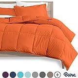 Bare Home Kids Comforter Set - Twin/Twin Extra Long - Goose Down Alternative - Ultra-Soft - Premium 1800 Series - Hypoallergenic - All Season Breathable Warmth (Twin/Twin XL, Orange)
