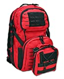 Lightning X Tactical Medic Backpack + IFAK Pouch Combo - Laser Cut MOLLE - Red