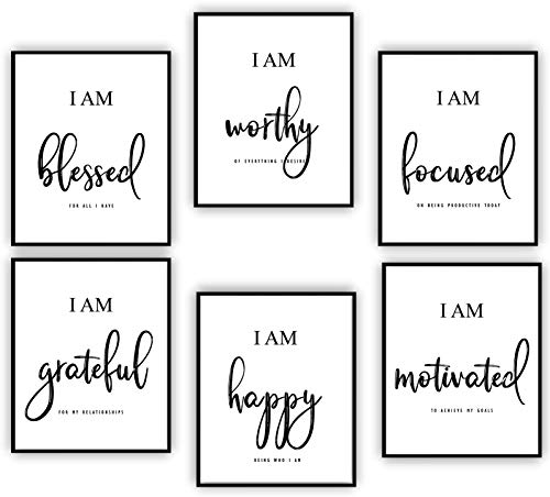 Inspirational Wall Art - Motivational Wall Art - Office & Bedroom Wall Decor - Positive Quotes & Sayings - Daily...