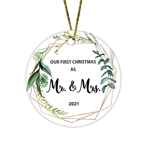 JUPPE 2021 Our First Christmas As Mr & Mrs Ornament Newlywed...