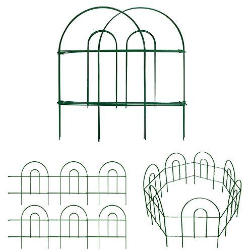 Amagabeli Decorative Garden Fence 18 in x 50 ft Rustproof Green Iron...