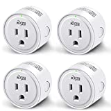 Smart Plug, KMC WIFI MiNi Outle Compatible with Alexa, Google Home & IFTTT, Smart Life, No Hub Required,