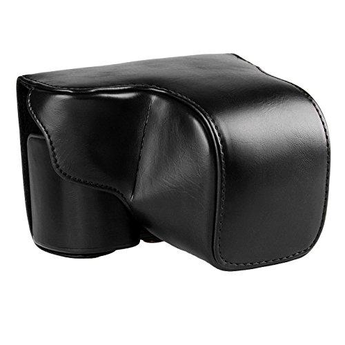 TARION ソニー sony a6000用 デジタルカメラ PUレザーケース カメラケース ショルダーベルト付 (ブラック) TARION製拭き布付