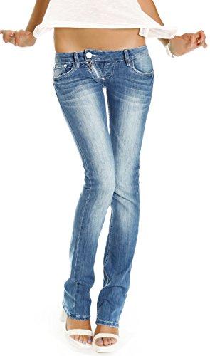 bestyledberlin Damen Jeans Hosen, Low Rise Hüftjeans, Slim Fit Damen...