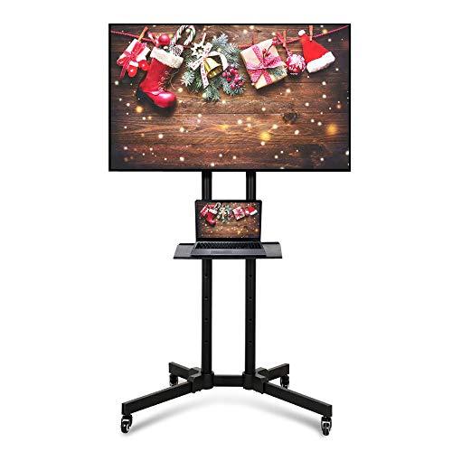 Yaheetech Supporto Carrello TV da Pavimento con Ruote Staffa Mobile Porta TV Schermi da 32 a 65...