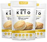NuTrail™ - Keto Biscuits Mix - Low Carb Food - Easy to Bake - Perfect for Breakfast - Only 2g Net Carbs (Butter) (11.3 oz) (3 Count)