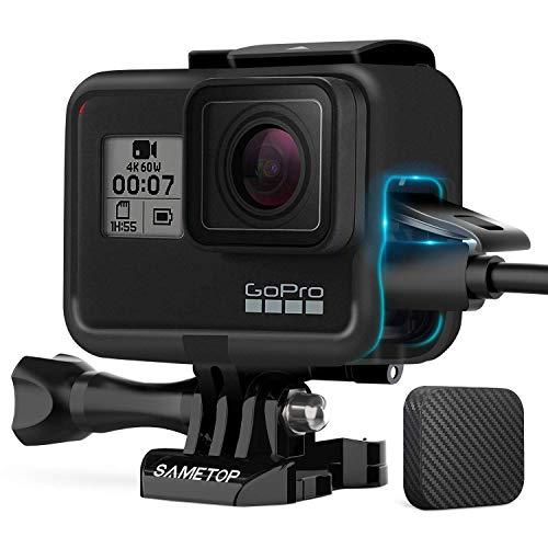 Sametop - Custodia con montaggio a telaio compatibile con fotocamere GoPro Hero 7, Hero 6, Hero 5, Hero (2018)