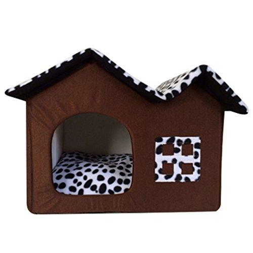 LvRao Cuccia a Casa Letto Pieghevole Staccabile Cuccia con Cuscino Casa Cuscini Divano per Cani...