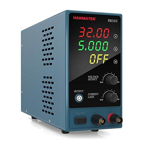 Adjustable DC Power Supply (0-30 V 0-5 A) with...