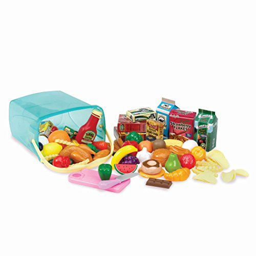 Play Circle Pantry in a Bucket Toy Food for Kids (79 Pieces)
