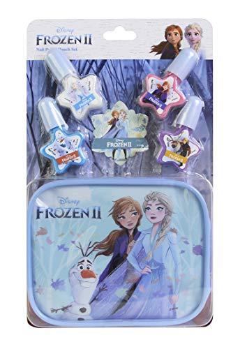 Frozen II Nail Polish & Pouch Set - Set Monedero y Kit d