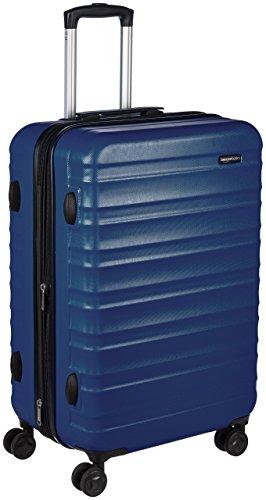 AmazonBasics - Valigia Trolley rigido con rotelle girevoli, 68 cm, Blu scuro