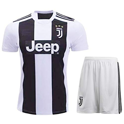 HeadTurners Non Cristiano Ronaldo Juventus Football Jersey Set for Kids, Boys and Men (T Shirt and Shorts) (Senior XL-42)