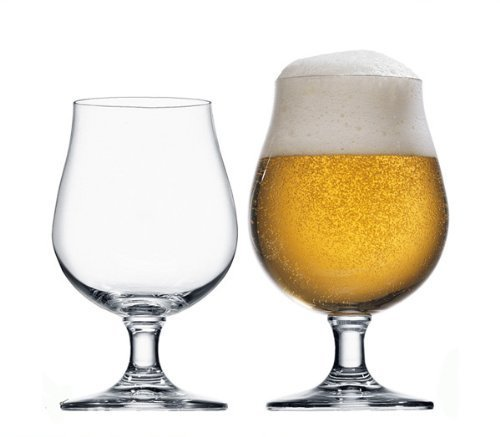 STÖLZLE LAUSITZ Bicchieri a tulipano della linea Berlin 390 ml I Set da 6 bicchieri da birra 0,3l I Lavabili in lavastoviglie I Infrangibili I Cristallo pregiato senza piombo I Alta qualità