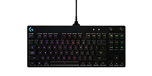 Logitech G Pro Mechanical Gaming Keyboard, 16.8 Million Colors RGB Backlit Keys, Ultra Portable Design, Detachable Micro USB Cable