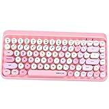 UBOTIE Portable Bluetooth Colorful Computer Keyboards, Wireless Mini Compact Retro Typewriter...